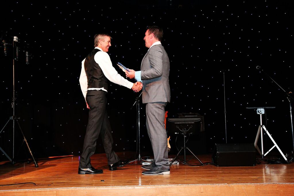 Receiving the award for Display Home of The Year